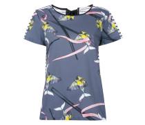 birds print T-shirt - women - Seide/Baumwolle