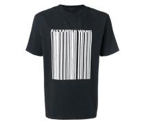 T-Shirt mit Barcode-Print