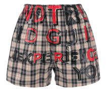 word checked shorts