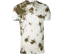 'Love Hate' T-Shirt mit Batikmuster