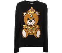 crowned bear intarsia jumper