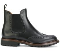 Slip-On-Stiefel mit niedrigem Absatz