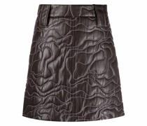 stitching-embellished A-line skirt