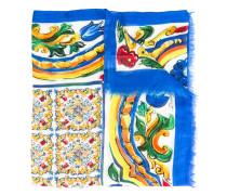 Schal mit Majolika-Print