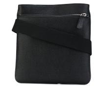 - textured messenger bag - men - Kalbsleder