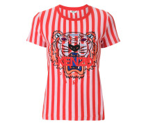 Gestreiftes T-Shirt mit Tigermotiv