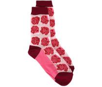Socken mit Rosenmuster