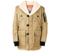 padded shearling jacket