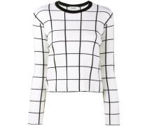 grid intarsia jumper - women - Schurwolle - S