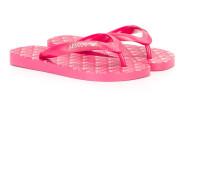 logo print flip flops