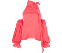 Schulterfreie Bluse mit Schleifenkragen