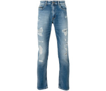 Schmale Distressed-Jeans - men