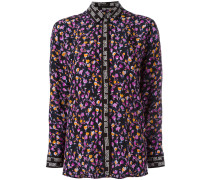 Seidenhemd mit Blumen-Print - women - Seide - 42