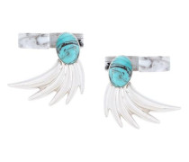 wing-shaped earrings