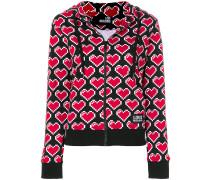 heart print hoodie