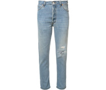 'Non-Destruction' Cropped-Jeans