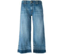 Halbhohe Jeans-Culottes - women - Baumwolle - 27