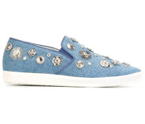 Slip-On-Sneakers mit Verzierung - women