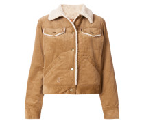 corduroy cropped jacket