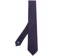 micro geometric-print tie