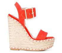 Sandalen mit Keilabsatz - women - Leder/Kid