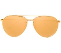 Pilotenbrille aus vergoldetem Titan