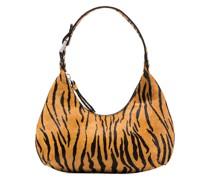 Amber tiger-print shoulder bag
