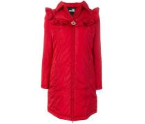 frilled shoulders lightweight coat