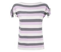 Gestreiftes T-Shirt - women - Polyester/Viskose