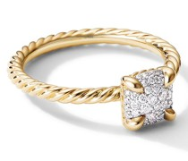 18kt Châtelaine Gelbgoldring mit Diamanten
