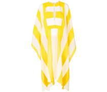 striped batwing midi dress