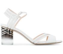 White Zaha 65 Perspex Sandals