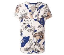 Florale Bluse mit V-Ausschnitt