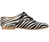 Oxford-Schuhe mit Zebra-Print
