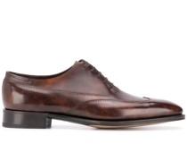 Oxford-Schuhe mit Lochmusterdetail