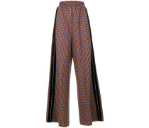 flared plaid trousers
