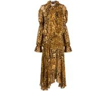 'Jocelyn' Kleid mit Pythonleder-Print
