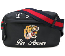 embroidered tech pack belt bag