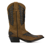 wing patch western boots