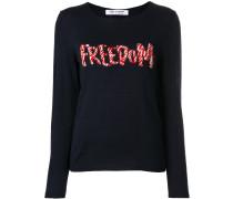 """Pullover mit """"Freedom""""-Stickerei"""