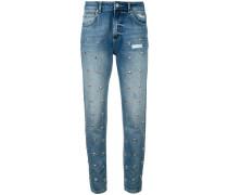 Jeans mit herzförmigen Nieten - women