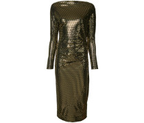 metallic fitted dress
