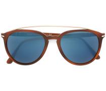 Oversized-Sonnenbrille mit blauen Gläsern
