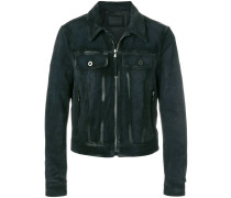 cropped moto jacket