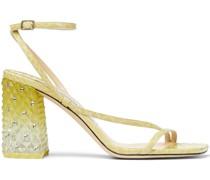 Art Sandalen mit Blockabsatz 85mm