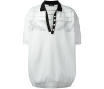 Oversized-Poloshirt mit Kontrastkragen