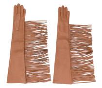 Handschuhe mit Fransen