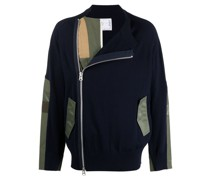 Pullover mit asymmetrischem Reißverschluss