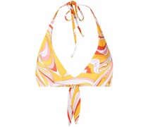 Vortici-Print Underwired Bikini Top