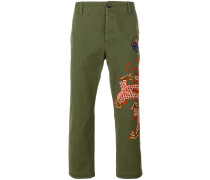 military embroidered dragon trousers - Unavailable